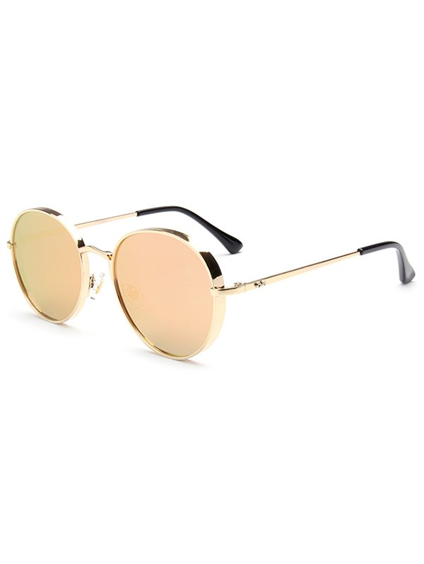 Metal Oval Mirrored Sunglasses