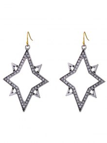 Star Rhinestone Drop Earrings