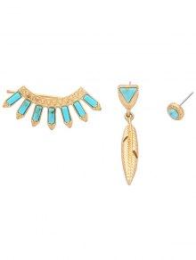 Buy Asymmetry Fake Sapphire Earrings - SAPPHIRE BLUE