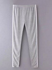 Side Stripe Skinny Casual Pants