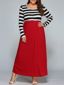 Stripe Maxi Splice Dress