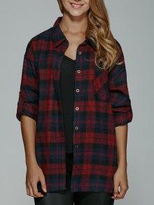 BF Style Plaid Shirt - Rouge Xl