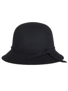 Winter Band Felt Fedora Hat - Black
