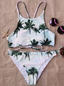 Coconut Palm High Neck Bikini