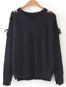Step Hem Split Sleeve Jumper