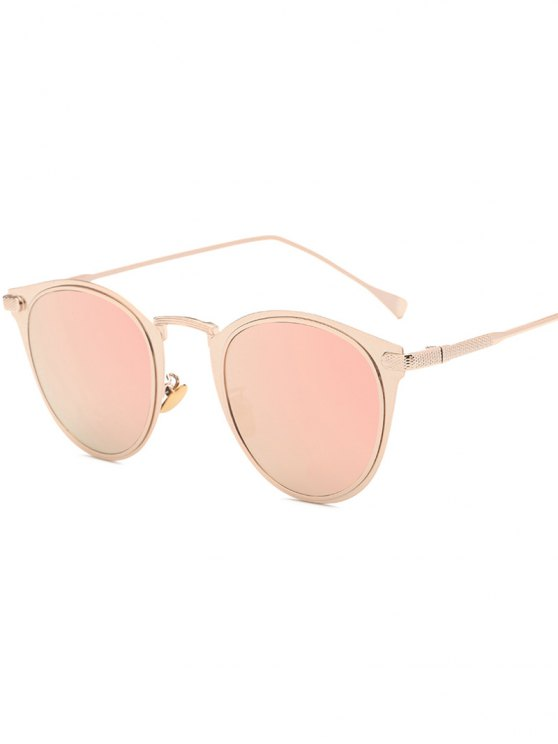 Cat Eye Mirrored Sunglasses  metal cat eye mirrored sunglasses pink sunglasses zaful