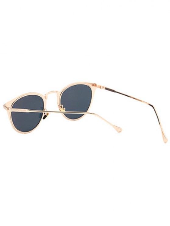 Metal Cat Eye Mirrored Sunglasses - PINK  Mobile