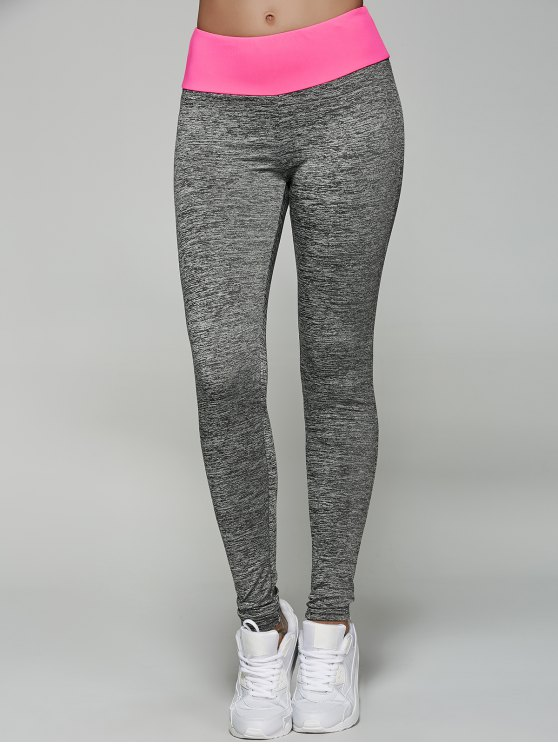 Space Dyed Color Spliced Leggings - Rosa Roja M