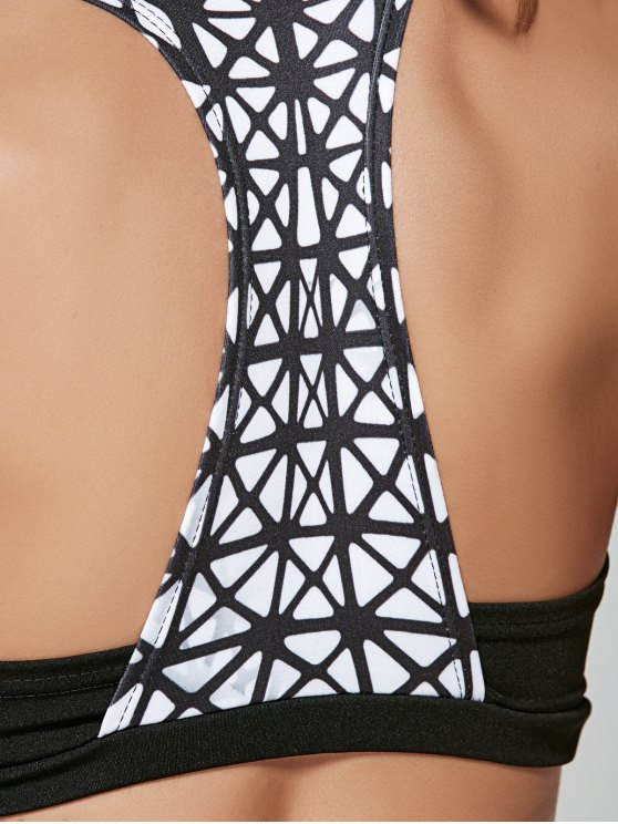Plaid Stretchy Sports Suit - BLACK S Mobile