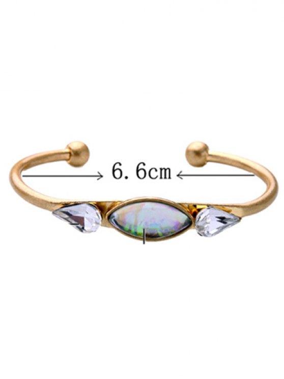 Faux Gemstone Water Drop Geometric Bracelet - GOLDEN  Mobile