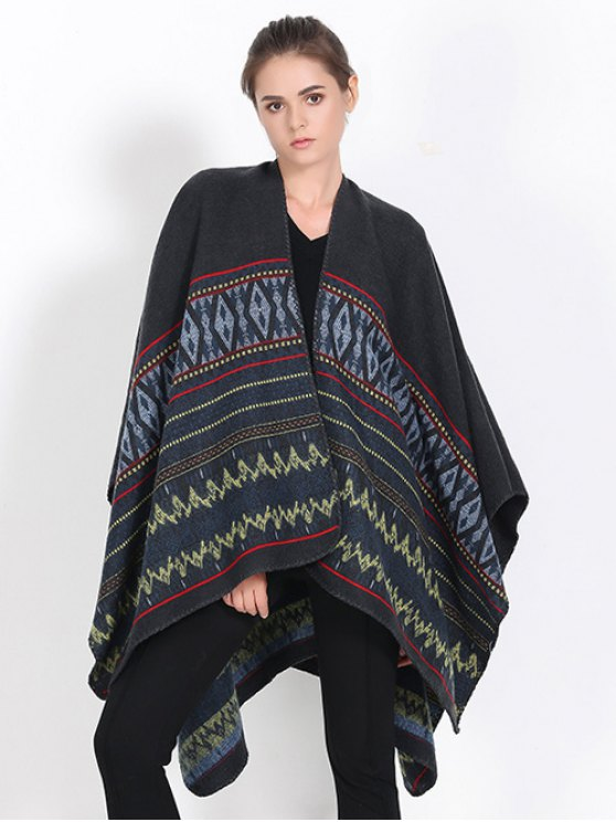 Geometry Thicken Cape Pashmina -   Mobile