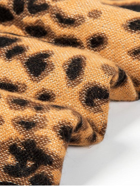 Cheetah Covered Edge Wrap Pashmina -   Mobile