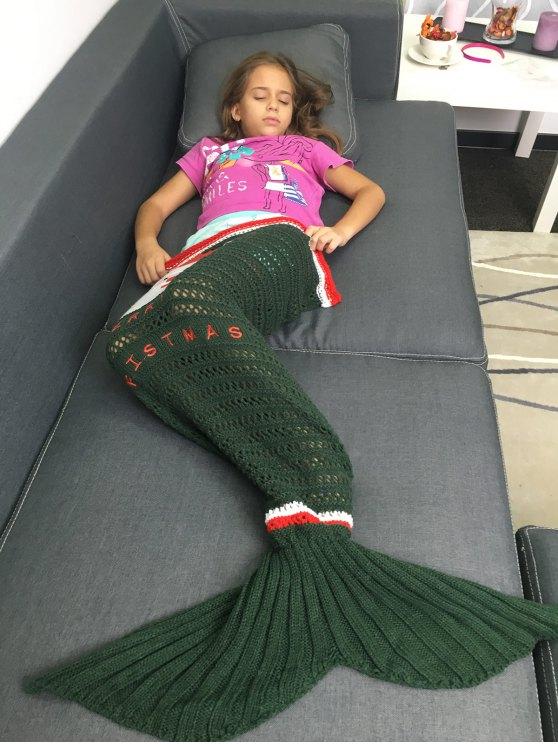 Knitted Christmas Mermaid Blanket -   Mobile