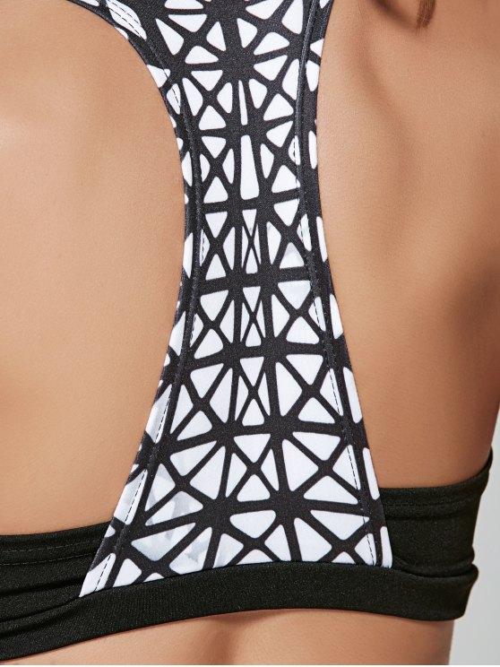 Plaid Stretchy Sports Suit - BLACK M Mobile