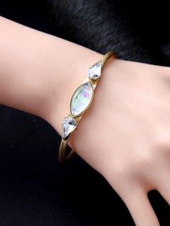 Faux Gemstone Water Drop Geometric Bracelet - Golden
