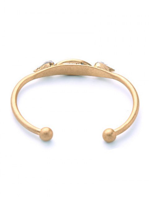 womens Faux Gemstone Water Drop Geometric Bracelet - GOLDEN  Mobile