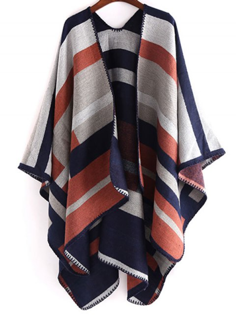 new Stripe Wrap Pashmina - LIGHT BROWN  Mobile