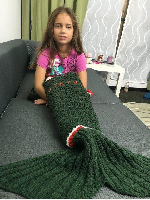 affordable Knitted Christmas Mermaid Blanket -   Mobile