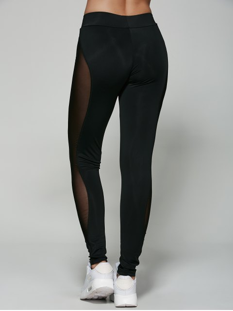 best See-Through Mesh Leggings - BLACK S Mobile