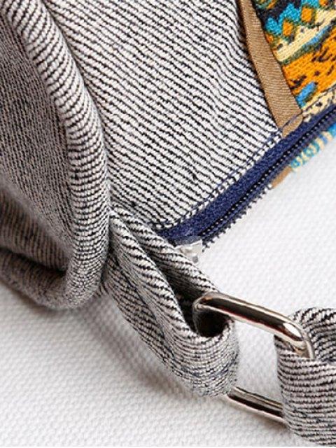 outfits Ethnic Print Denim Crossbody Bag - COLORMIX  Mobile