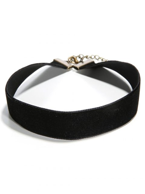 hot Concise Faux PU Leather Choker - BLACK  Mobile