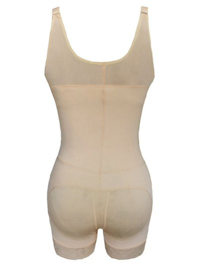 Straps Back Backless Zip Up Full Body Corset - COMPLEXION 3XL Mobile