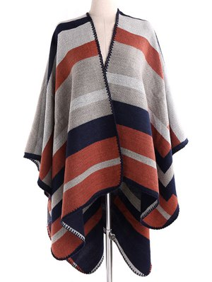 Stripe Wrap Pashmina - Light Brown