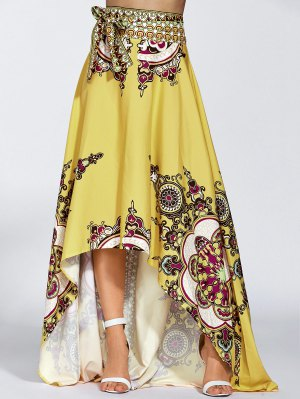 High Low Pint Skirt - Yellow