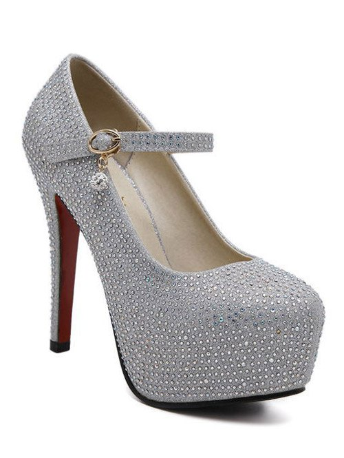 Rhinestone Stiletto Heel Pumps