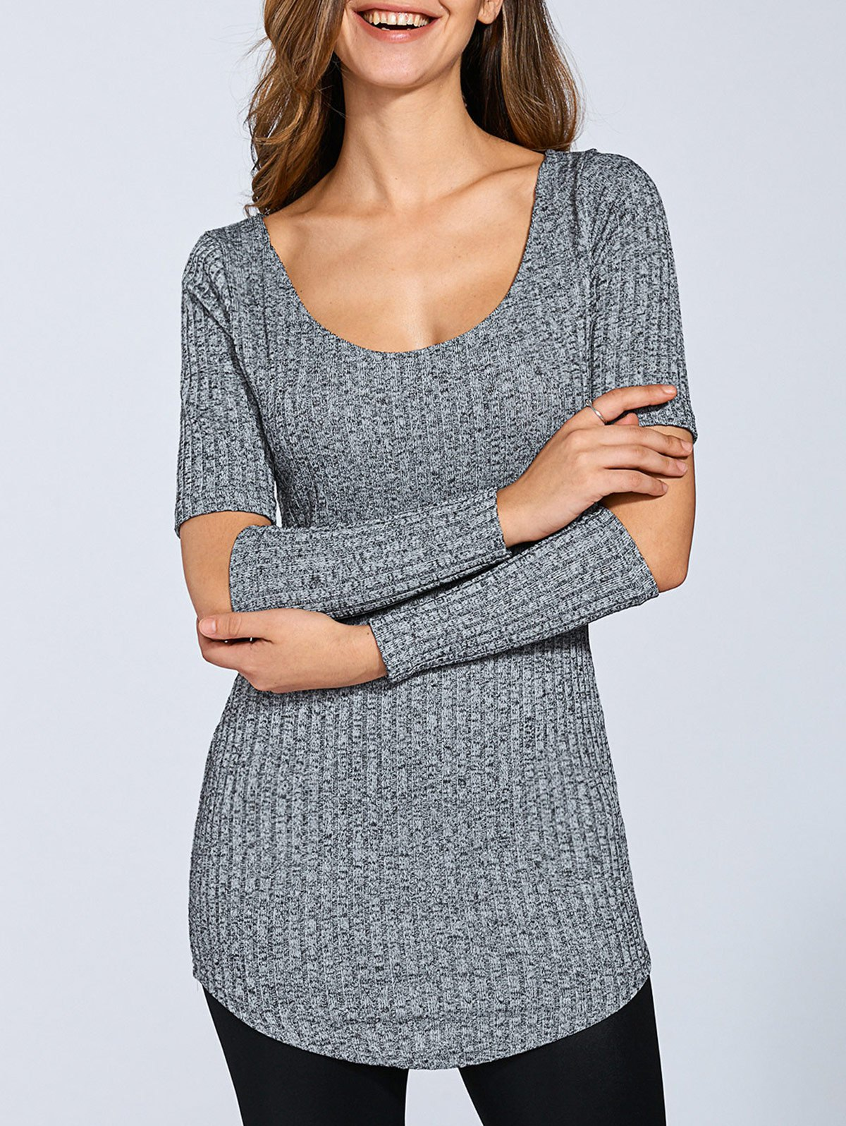 Long Sleeve Cut Out Sweater
