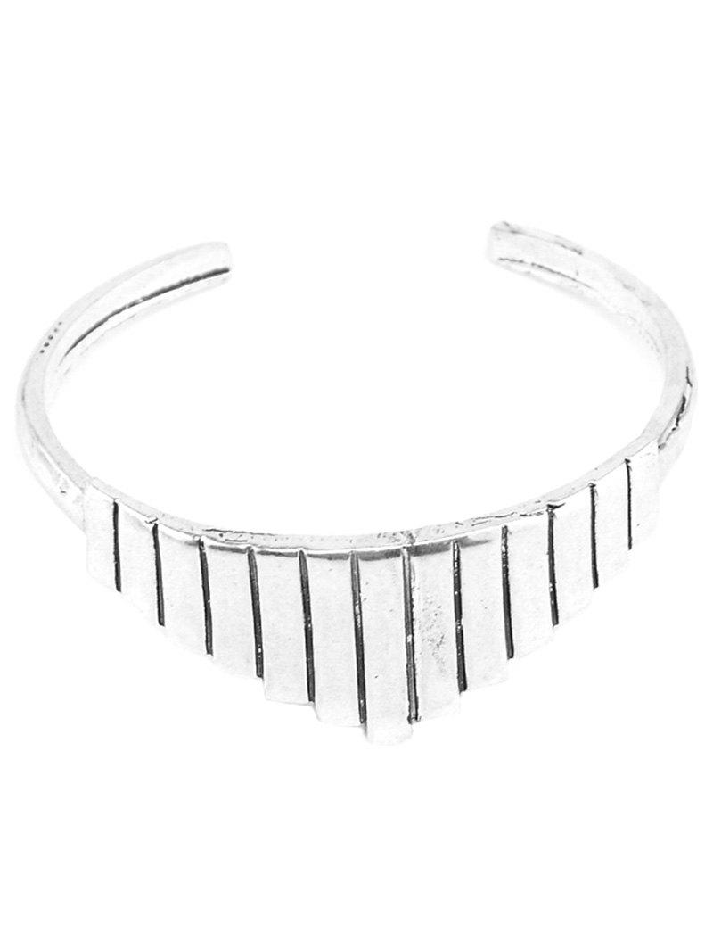 Alloy Geometric Cuff Bracelet