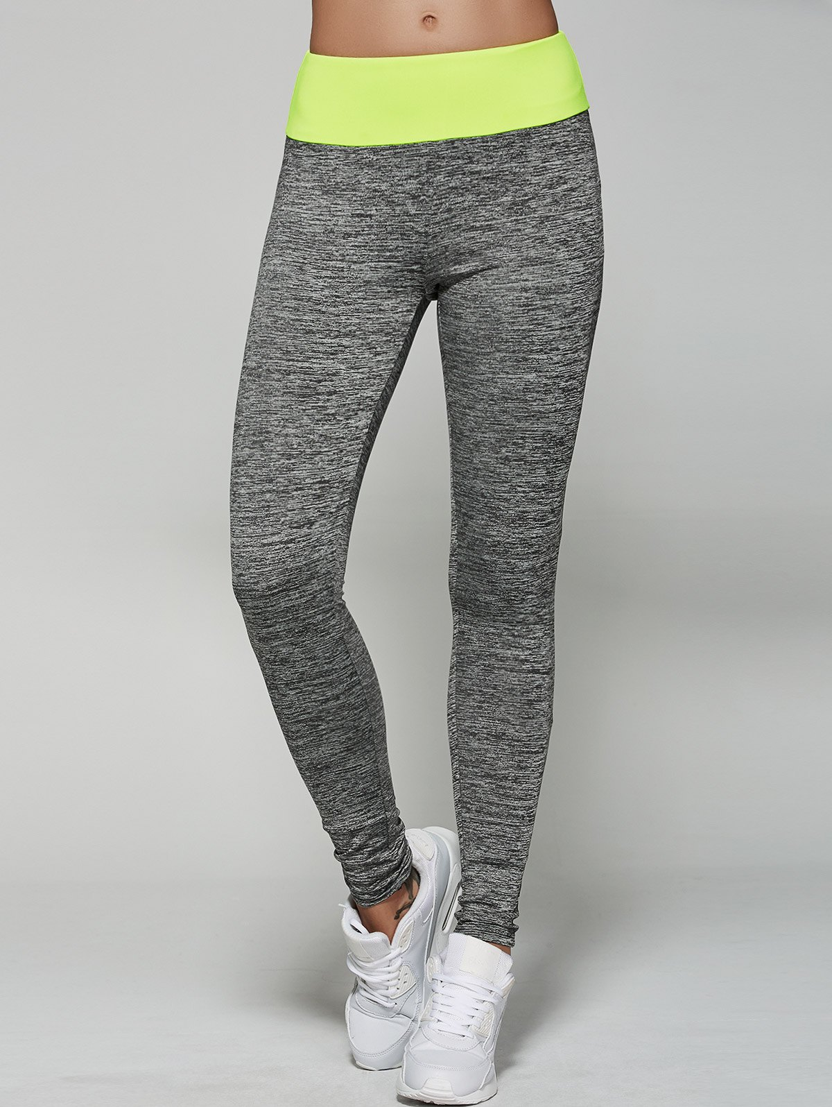 Space-Dyed Color Spliced Leggings