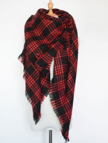 Plaid Series Fringed Scarf