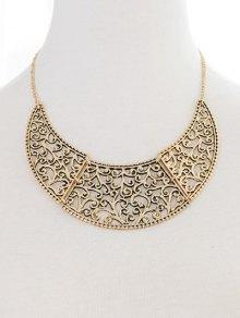 Filigree Moon Necklace - Golden