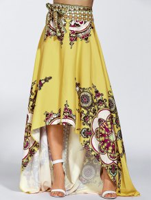 High Low Pint Skirt - Yellow L