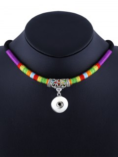 Simple Engrave Ethnic Rope Necklace - Violet Rose