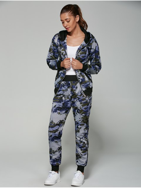 women's Camo Hooded Sports Suit -   Mobile