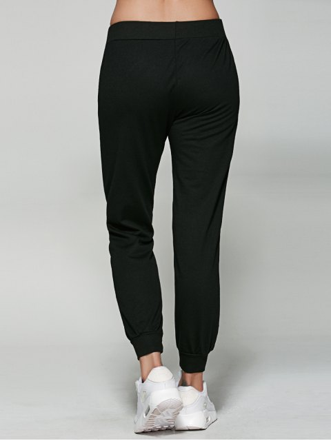 women's Letter Jogger Pants - BLACK L Mobile