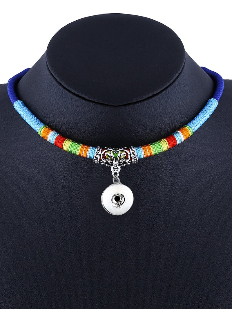 Emboss Alloy Ethnic Rope Pendant Necklace