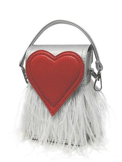 Heart Pattern Fringe Handbag