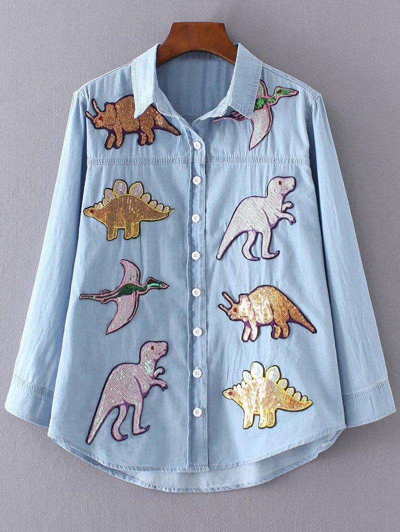 Dinosaur Denim Shirt