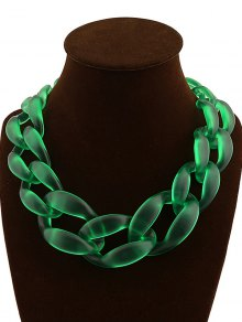Braided Acrylic Candy Color Necklace
