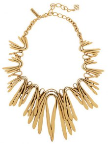 Retro U Shape Embellies Collier - Or