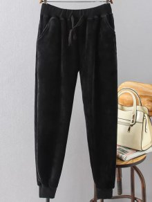 Plus Size Velvet Jogging Pants