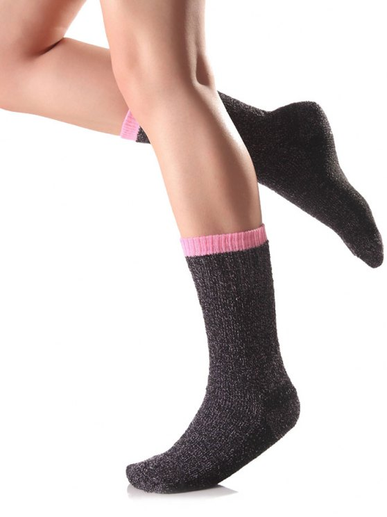 Candy Edge Knit Socks - PINK  Mobile