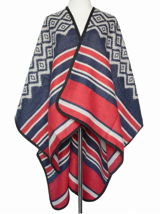 Rhombus Stripe Wrap Pashmina -   Mobile
