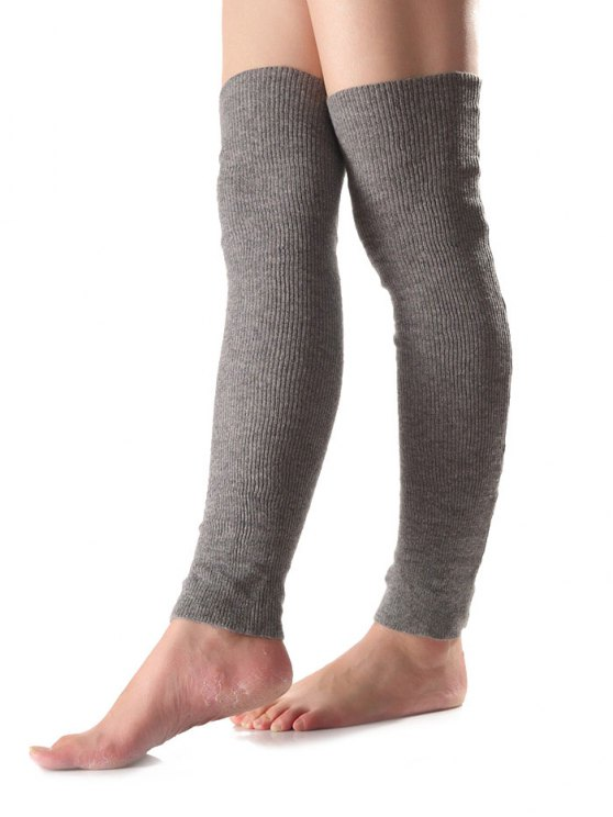 sale Long Knit Leg Warmers - GRAY