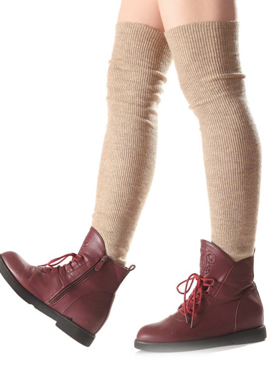 Long Knit Leg Warmers - COMPLEXION  Mobile