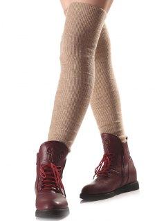 Long Knit Leg Warmers - Complexion