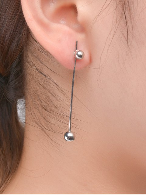 outfit Minimalist Ball Earrings - SILVER  Mobile